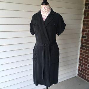 J. Crew Utility Charcoal Wrap Dress